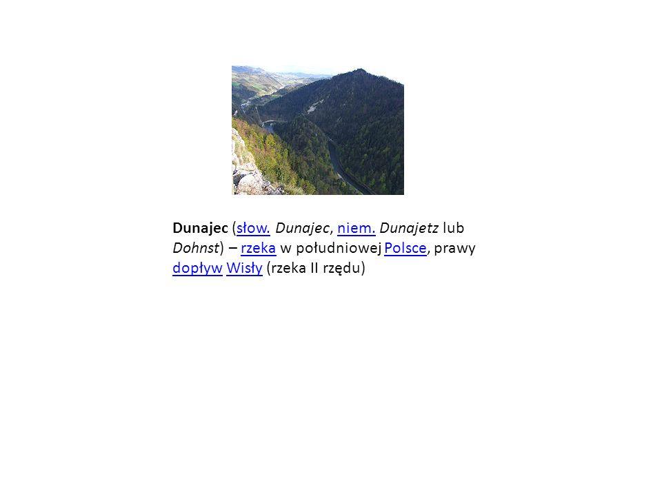Dunajec (słow. Dunajec, niem
