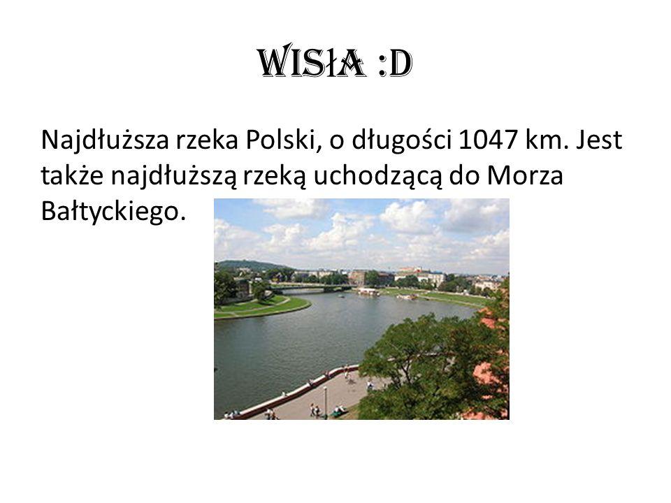 Wisła :D Najdłuższa rzeka Polski, o długości 1047 km.