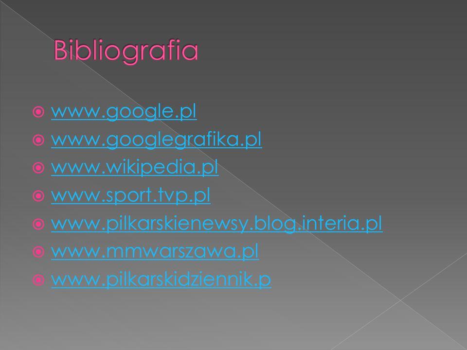 Bibliografia www.google.pl www.googlegrafika.pl www.wikipedia.pl