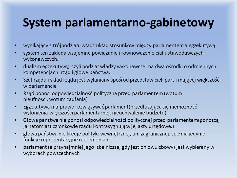 System parlamentarno-gabinetowy