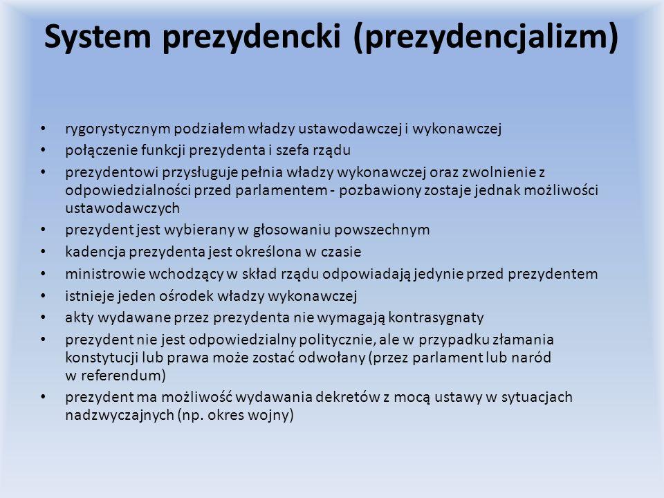 System prezydencki (prezydencjalizm)