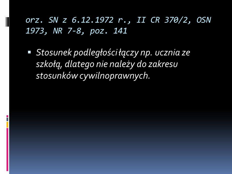 orz. SN z 6.12.1972 r., II CR 370/2, OSN 1973, NR 7-8, poz. 141