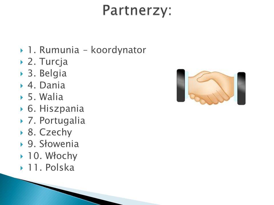 Partnerzy: 1. Rumunia – koordynator 2. Turcja 3. Belgia 4. Dania