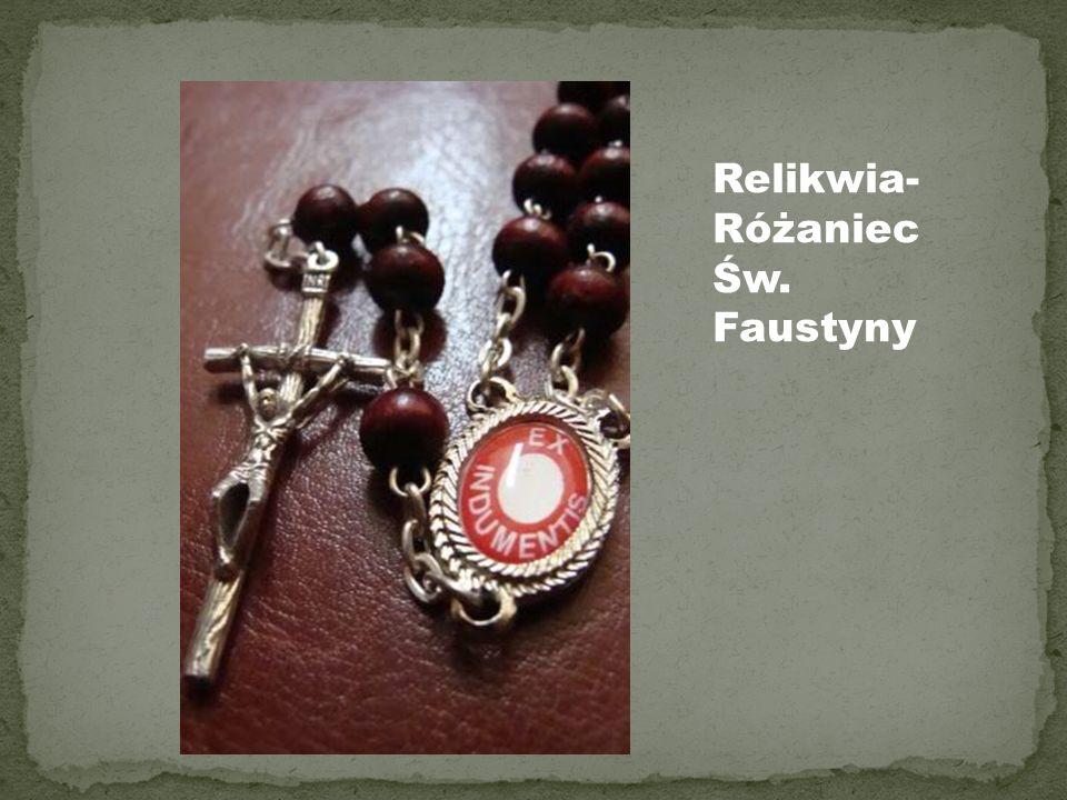 Relikwia-Różaniec Św. Faustyny
