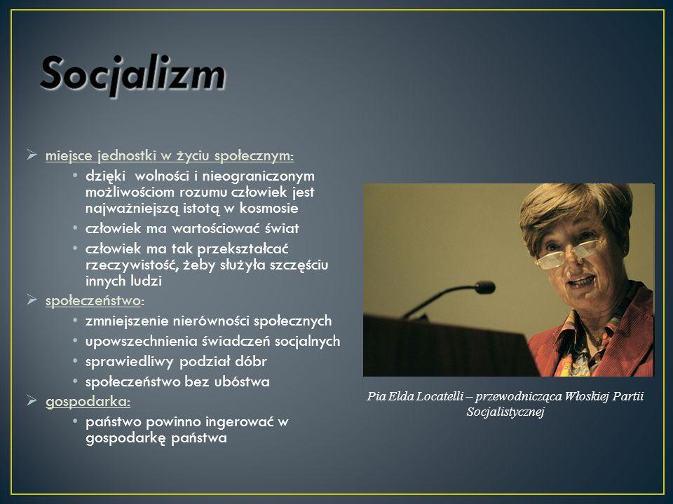 Pia Elda Locatelli – przewodnicząca Włoskiej Partii Socjalistycznej