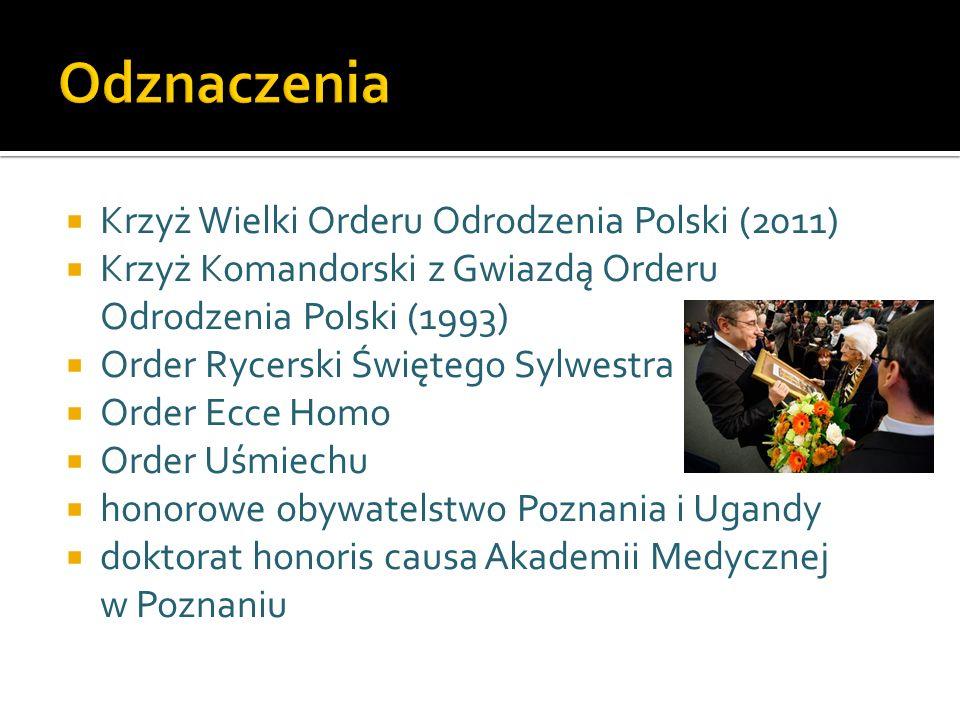 Odznaczenia Krzyż Wielki Orderu Odrodzenia Polski (2011)