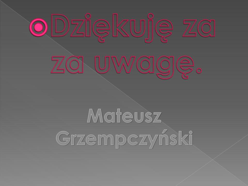 Dziękuję za za uwagę. Mateusz Grzempczyński