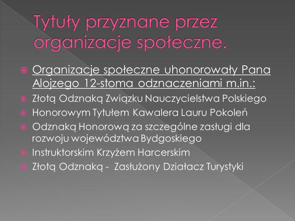 Tytuły przyznane przez organizacje społeczne.