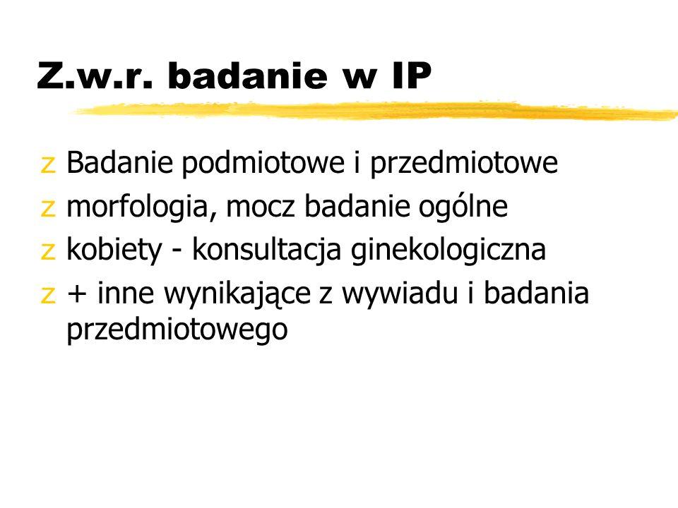 Z.w.r. badanie w IP Badanie podmiotowe i przedmiotowe