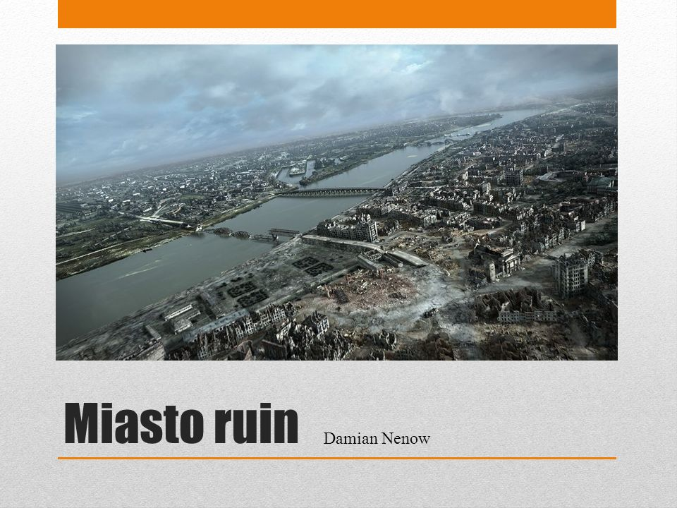 Miasto ruin Damian Nenow