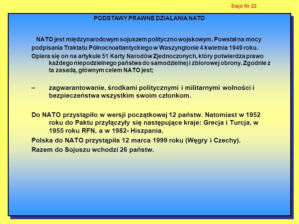 PODSTAWY PRAWNE DZIAŁANIA NATO