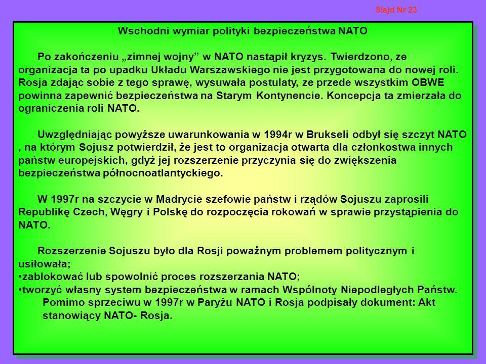 Wschodni wymiar polityki bezpieczeństwa NATO