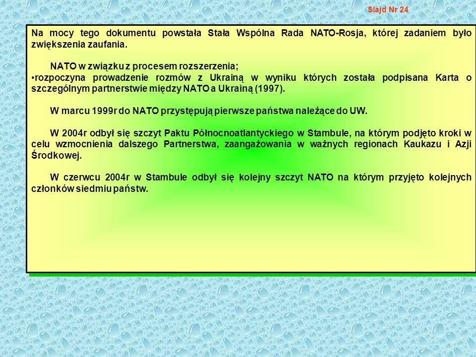 NATO w związku z procesem rozszerzenia;