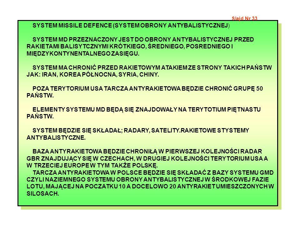 SYSTEM MISSILE DEFENCE (SYSTEM OBRONY ANTYBALISTYCZNEJ)