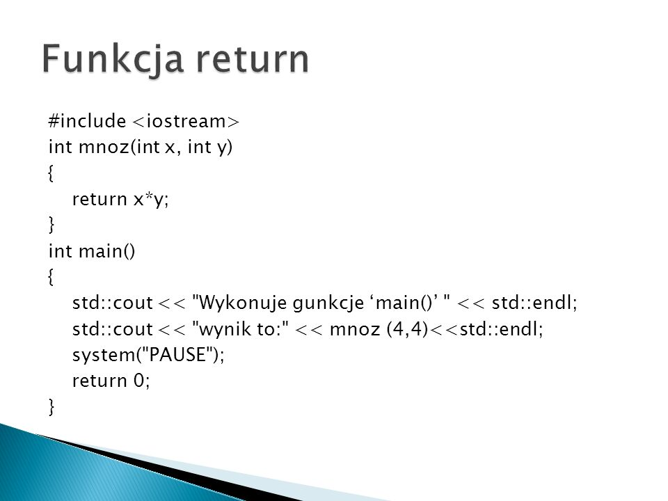 Funkcja return