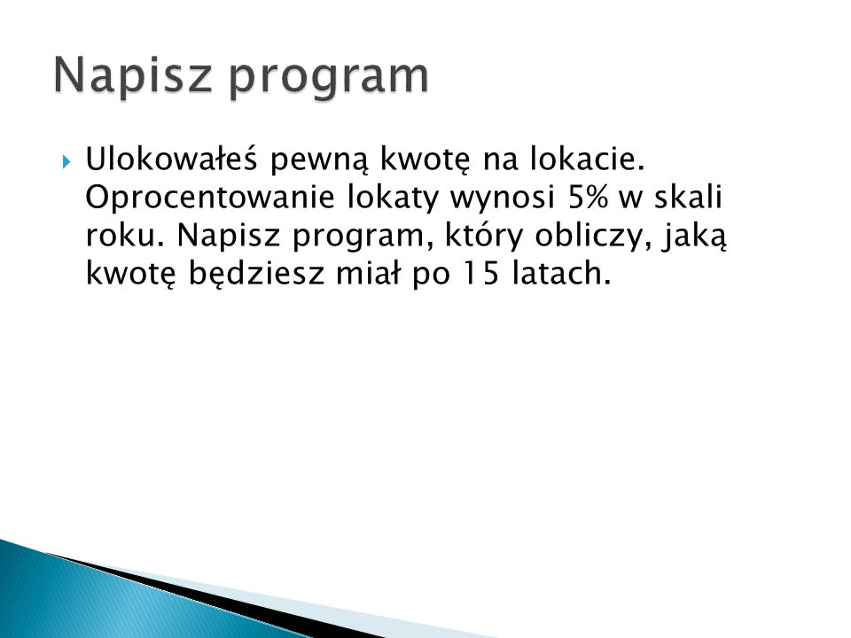 Napisz program
