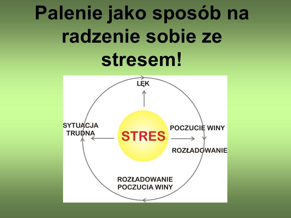 Palenie jako sposób na radzenie sobie ze stresem!
