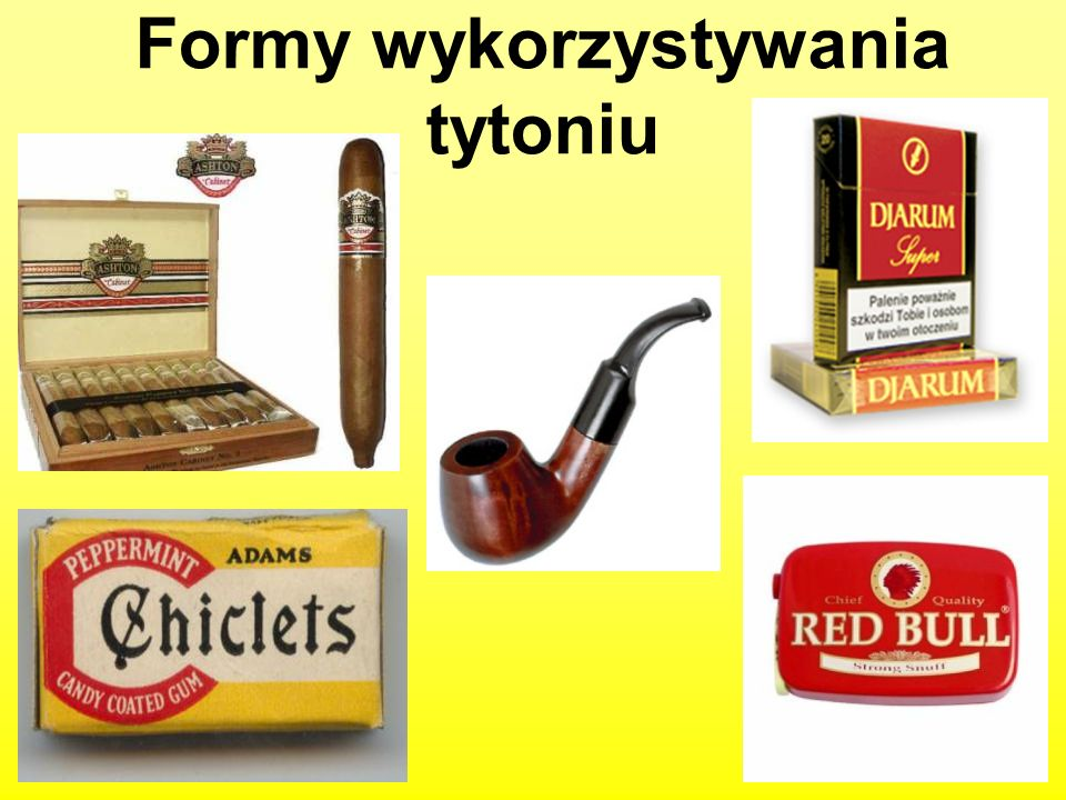 Formy wykorzystywania tytoniu