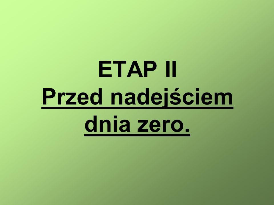 ETAP II Przed nadejściem dnia zero.