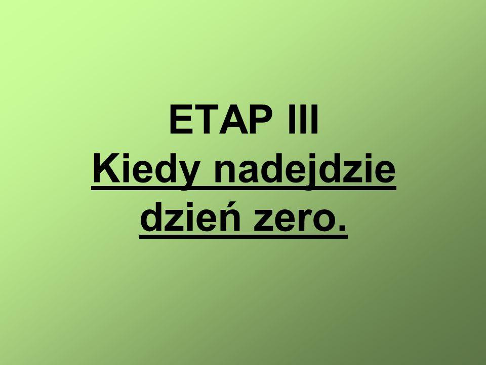 ETAP III Kiedy nadejdzie dzień zero.