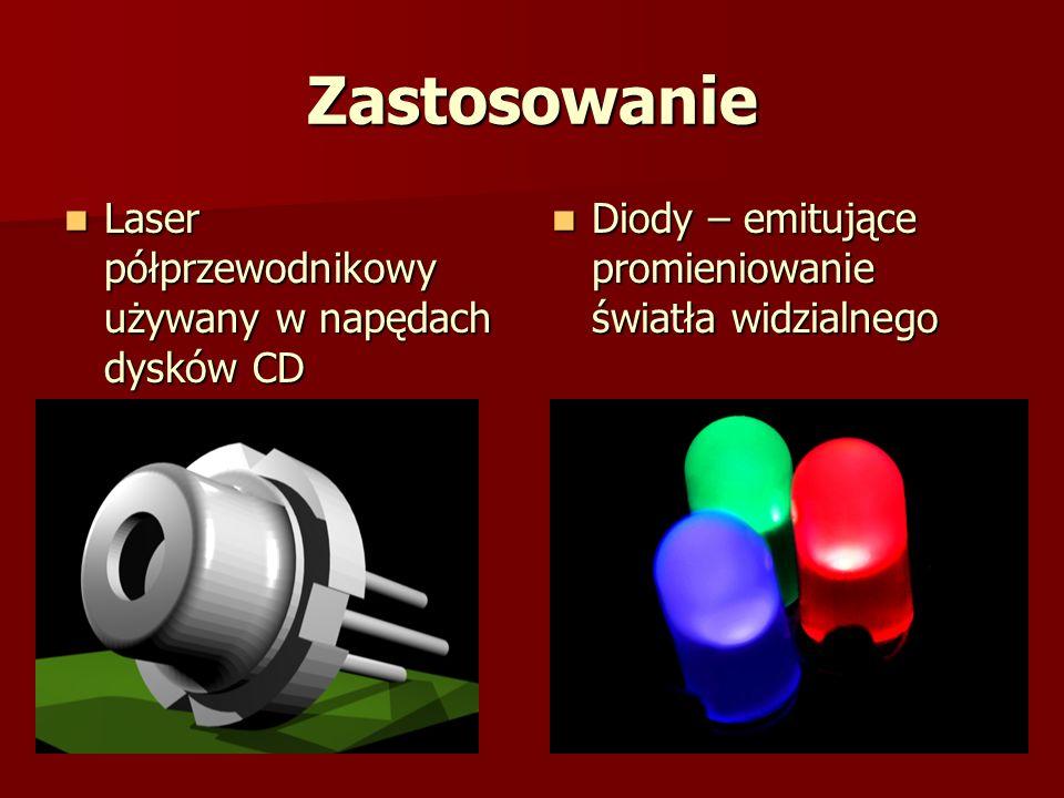 Zastosowanie Laser półprzewodnikowy używany w napędach dysków CD
