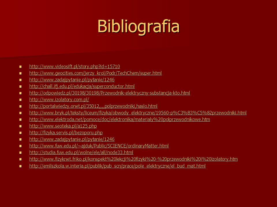 Bibliografia http://www.videosift.pl/story.php id=15710