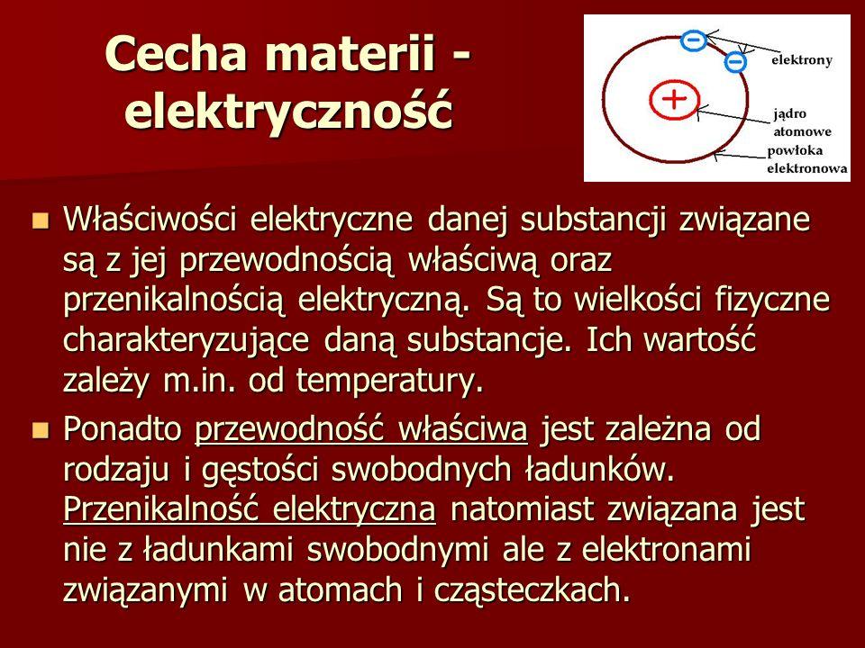 Cecha materii - elektryczność