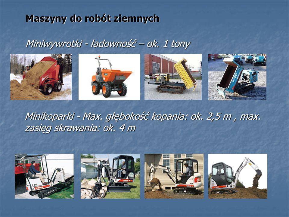 Maszyny do robót ziemnych