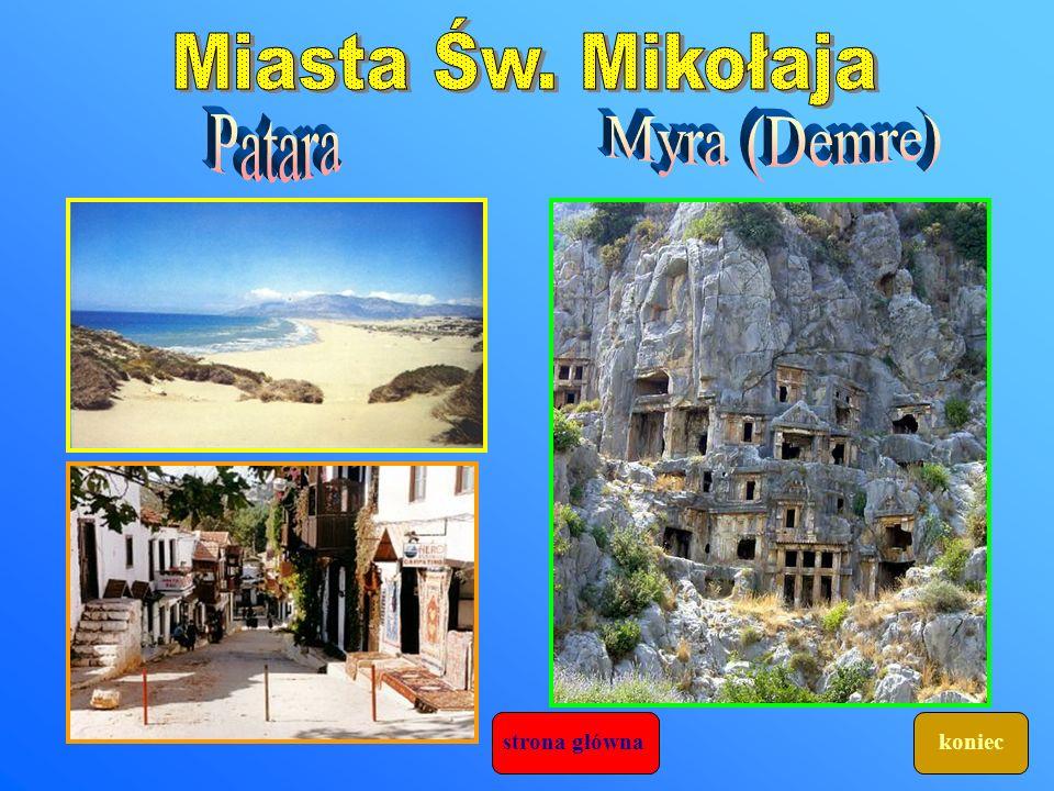 Miasta Św. Mikołaja Patara Myra (Demre) strona główna koniec