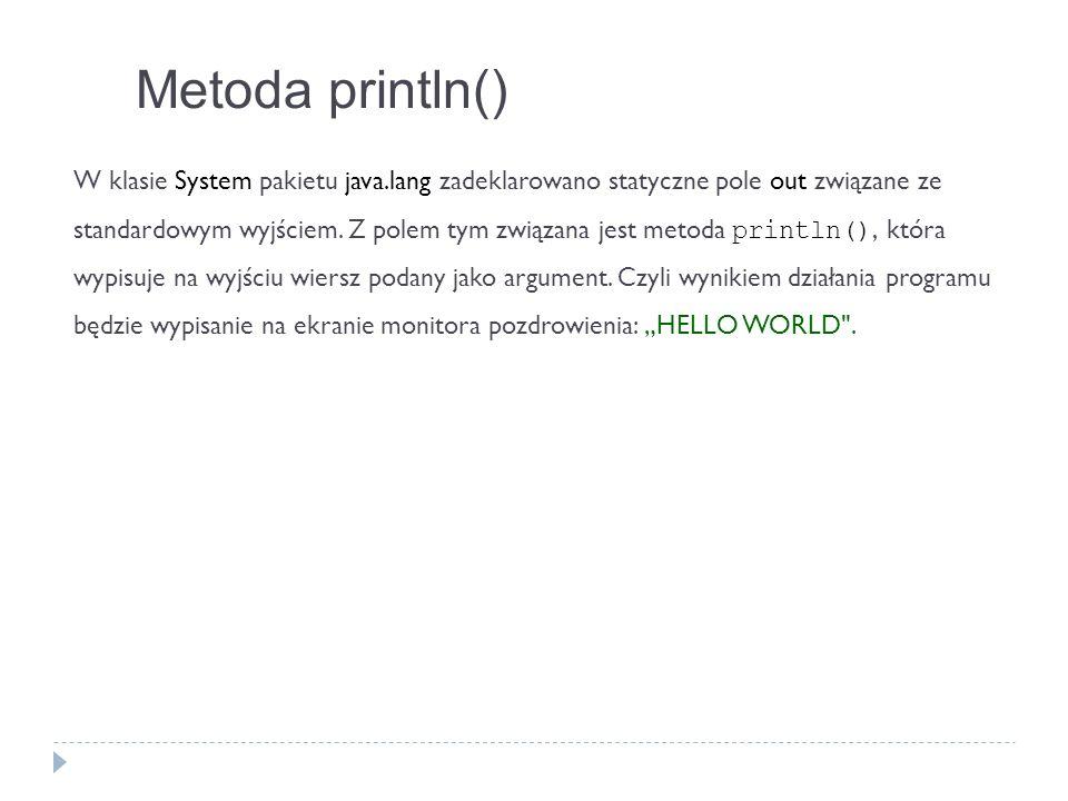Metoda println()