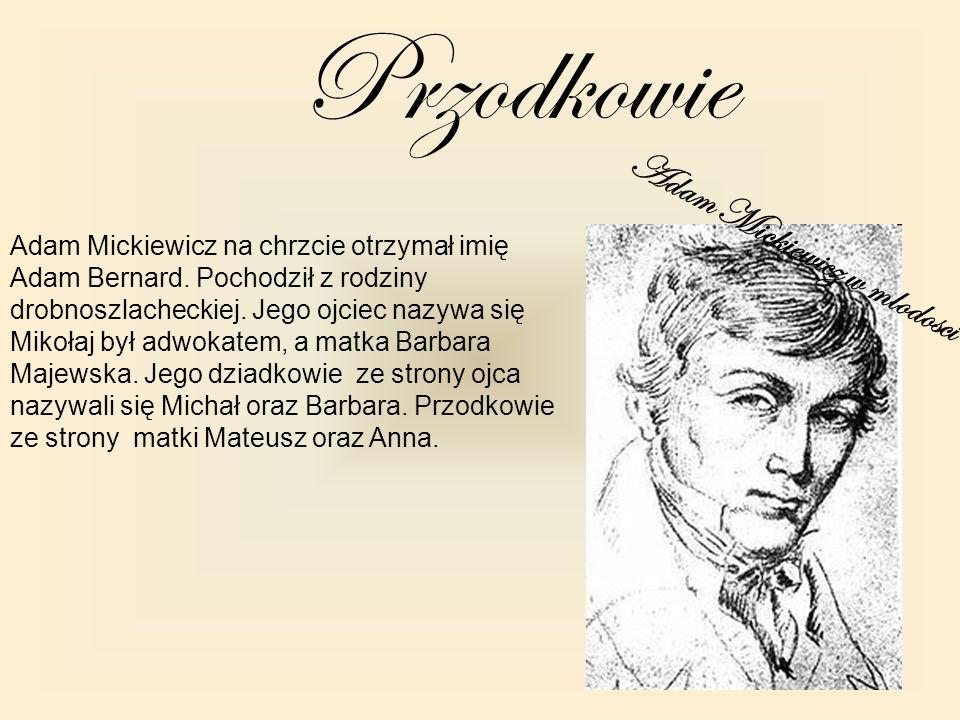 Adam Mickiewicz w mlodosci