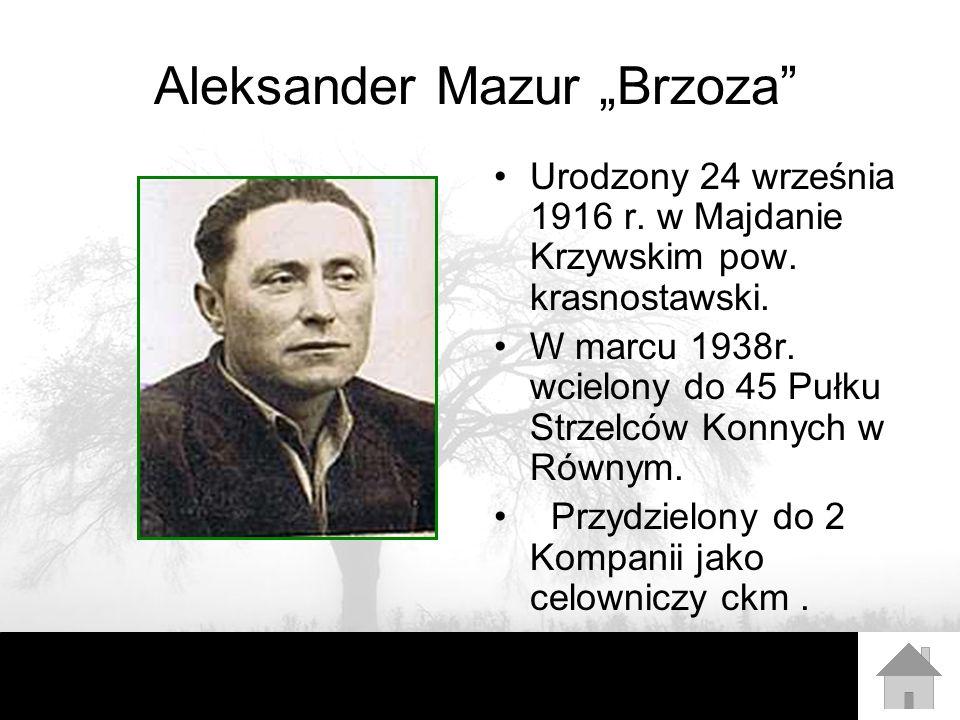 "Aleksander Mazur ""Brzoza"
