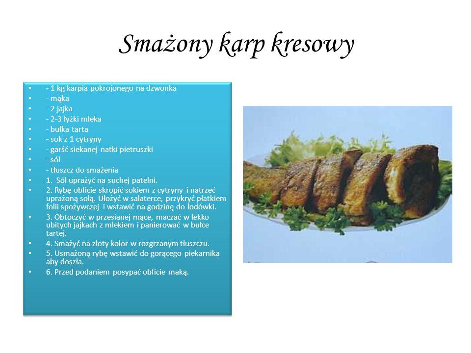 Smażony karp kresowy - 1 kg karpia pokrojonego na dzwonka - mąka