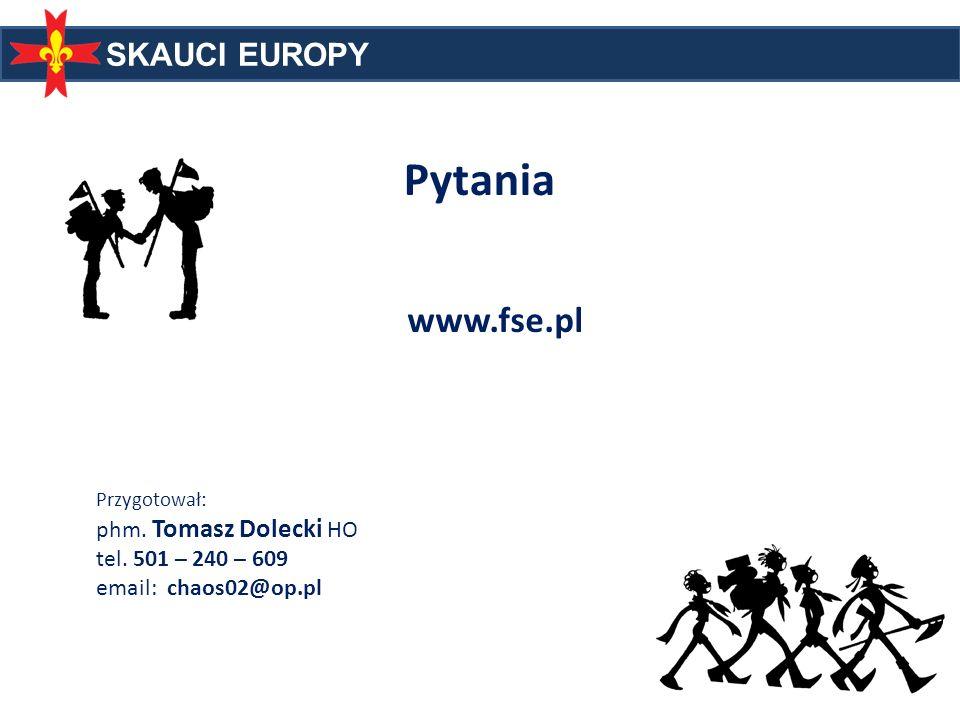Pytania www.fse.pl phm. Tomasz Dolecki HO tel. 501 – 240 – 609