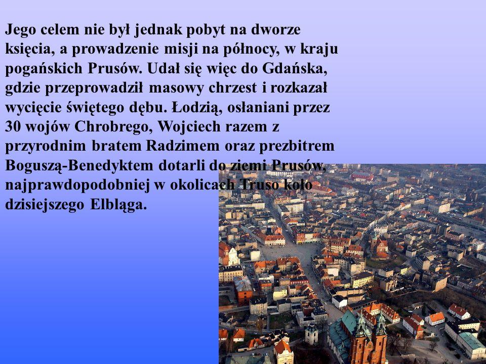 Jego celem nie był jednak pobyt na dworze księcia, a prowadzenie misji na północy, w kraju pogańskich Prusów.