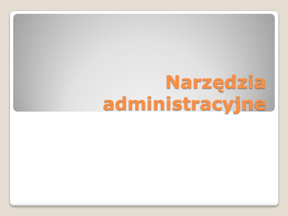Narzędzia administracyjne