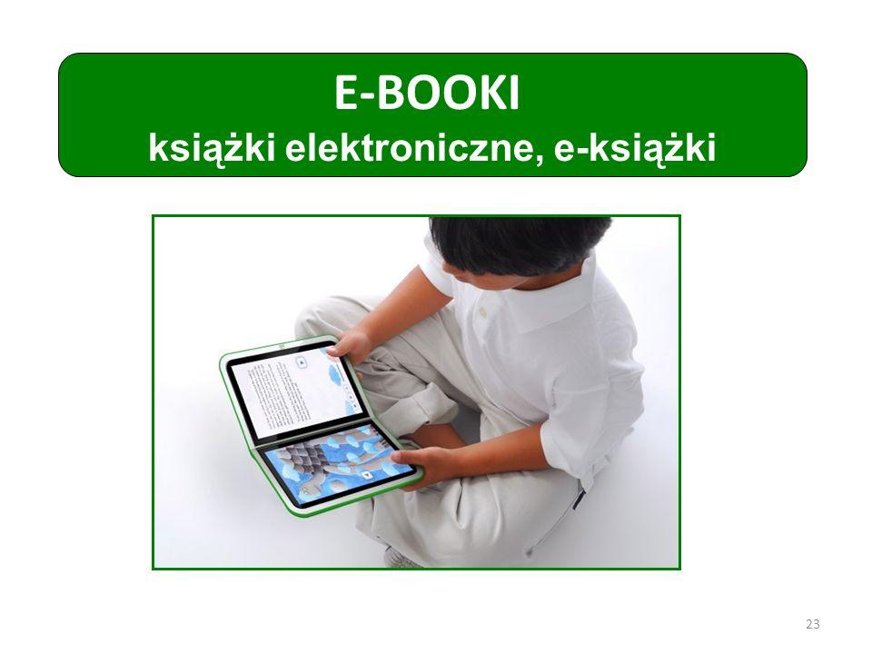 książki elektroniczne, e-książki