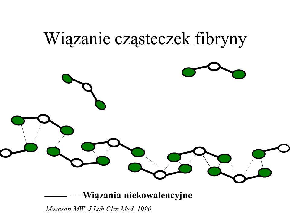 Wiązanie cząsteczek fibryny