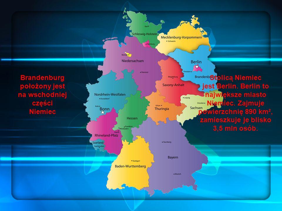 Brandenburg położony jest na wschodniej części Niemiec