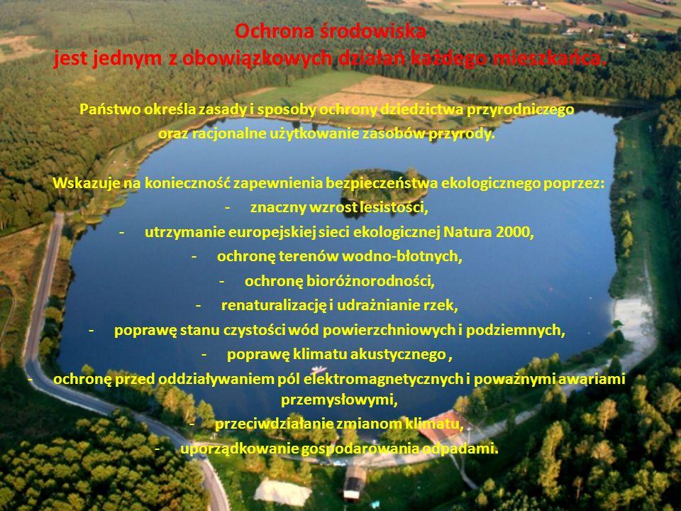 Ochrona środowiska jest jednym z obowiązkowych działań każdego mieszkańca.