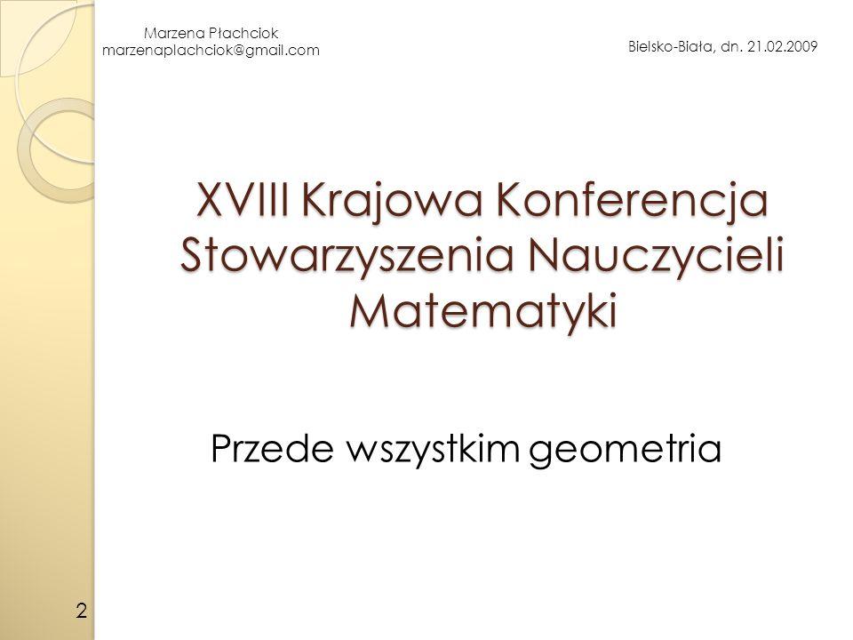 XVIII Krajowa Konferencja Stowarzyszenia Nauczycieli Matematyki