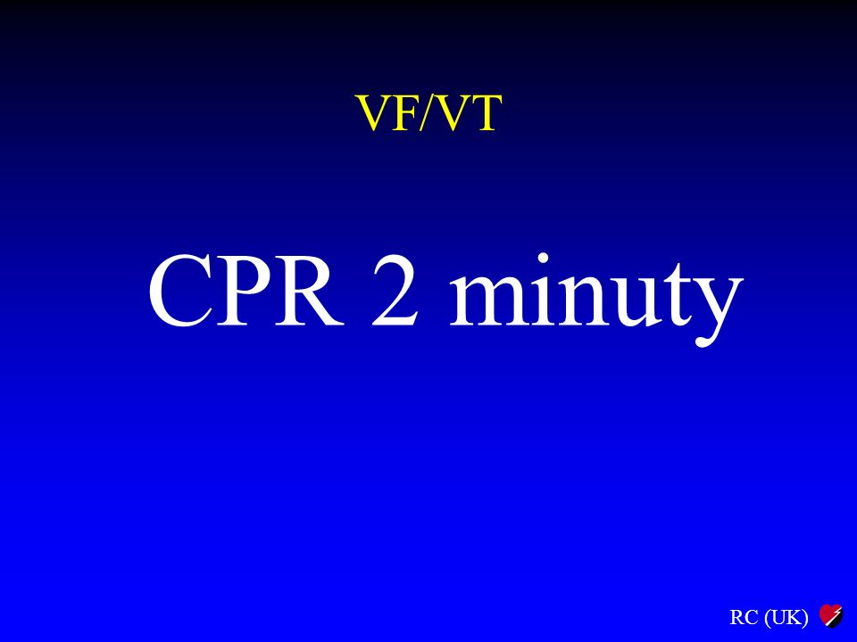 VF/VT CPR 2 minuty