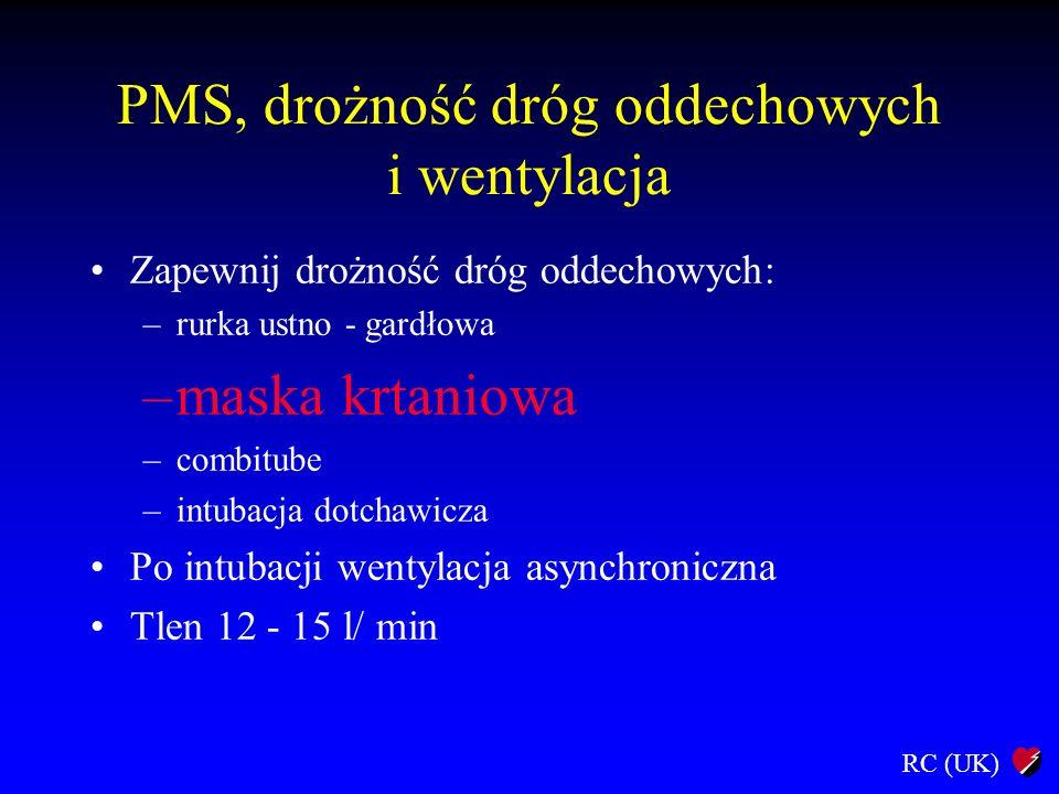 PMS, drożność dróg oddechowych i wentylacja