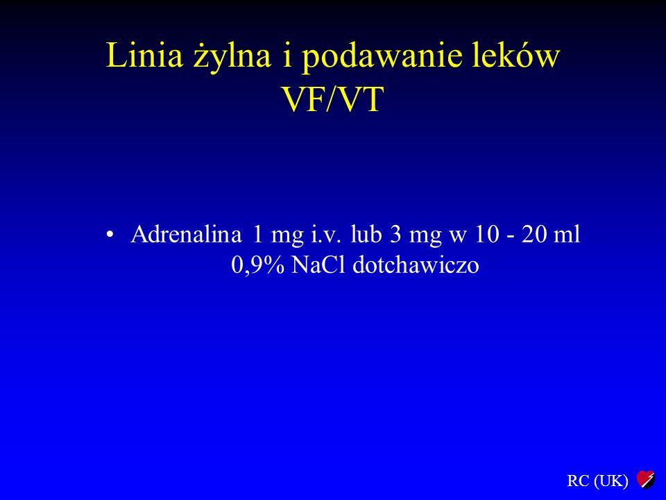 Linia żylna i podawanie leków VF/VT