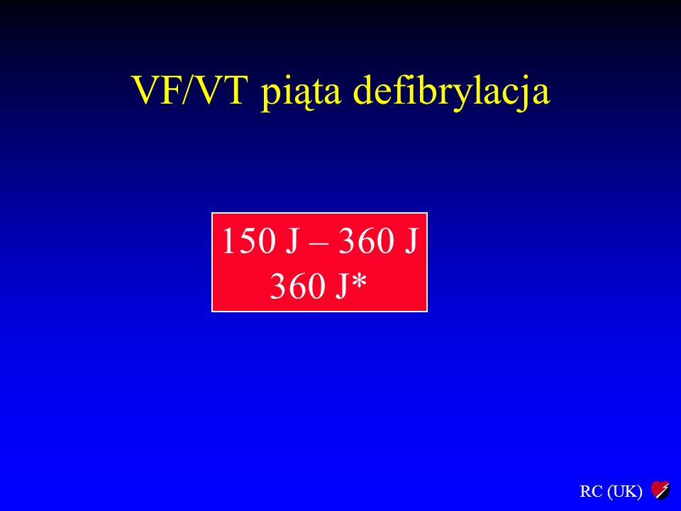 VF/VT piąta defibrylacja
