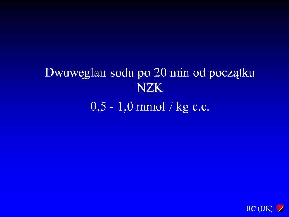 Dwuwęglan sodu po 20 min od początku NZK