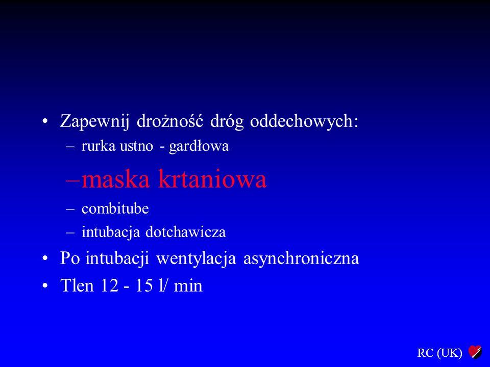 maska krtaniowa Zapewnij drożność dróg oddechowych: