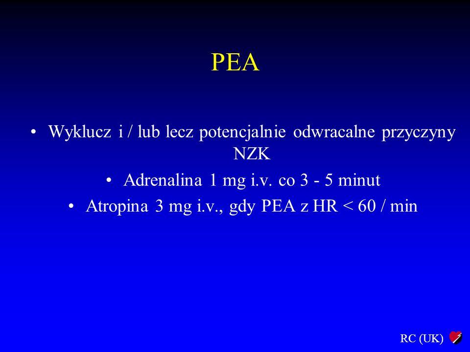 PEA Wyklucz i / lub lecz potencjalnie odwracalne przyczyny NZK