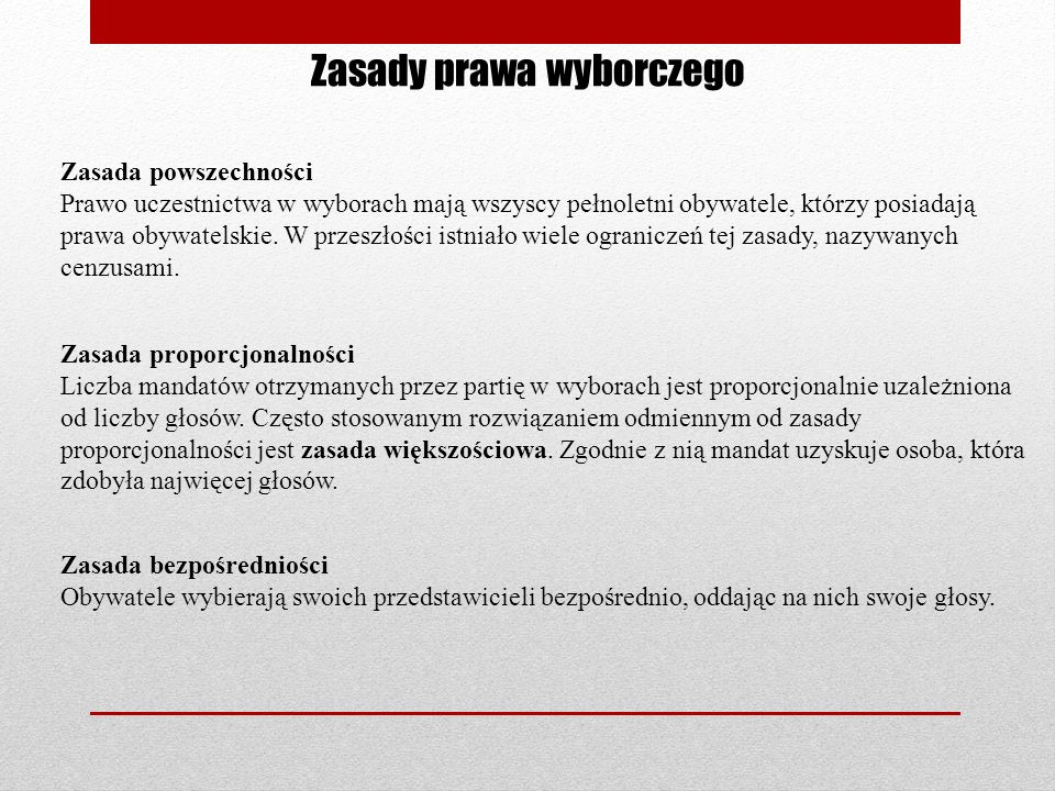 Zasady prawa wyborczego