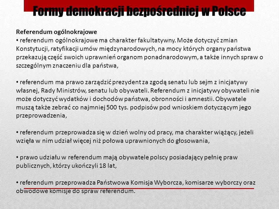 Formy demokracji bezpośredniej w Polsce